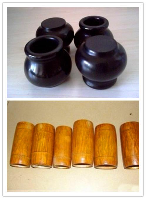 上图为陶罐,下图为竹罐